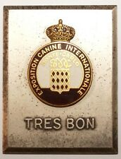 MEDAILLES - Plaque Exposition Canine Internationale Monte Carlo (8821 M)