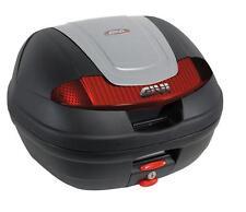GIVI Monolock Topcase E340 Vision, schwarz-silber, inkl. Adapterplatte, E340G730