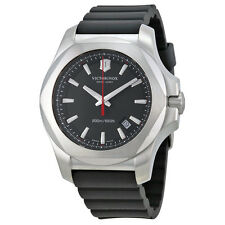 Victorinox Swiss Army Inox Black Dial Black Rubber Mens Watch 241682.1