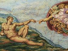 Wandteppich aus Italy Gobelin Michelangelo - Creazione di Adamo 50 x 70 cm Neu