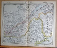 1883  LARGE ANTIQUE MAP CANADA QUEBEC MONTREAL THREE RIVERS