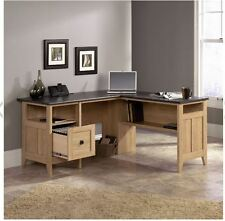 L-Shaped Office Desk Corner Home Computer Workstation Wood Drawers Student Table