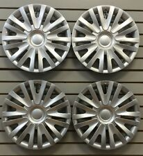 """NEW VW 2010-2014 Golf 15"""" Silver Hubcap Wheelcovers SET of 4"""