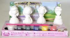 DISNEY PRINCESS PAINT YOUR OWN PRINCESS FIGURES & BRUSH & 6 PAINTS KIDS FUN