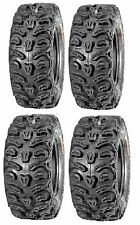 Full set of Kenda Bear Claw HTR Radial (8ply) 25x8-12 and 25x10-12 ATV Tires ...