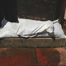 1000 x Yuzet White Woven Polypropylene Sandbags Sacks flood Sand Bags 33cmx 78cm