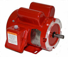 1 hp electric motor  56 frame 1725 rpm  115/230 volt 1 phase Leeson 110088 new