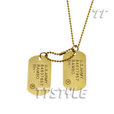 TTstyle US Army Vintage Copper Double DOG TAG NEW Arrival