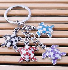 FD1163 Colorful Cute Turtle Metal Keychain Keyring Keyfob Car Key Ring ~Random~