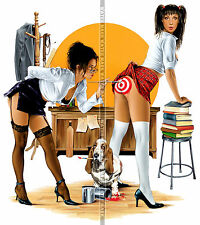 114 FRIDGE TOOL BOX MAGNET PIN UP GIRL HOT TEACHER AND STUDENT ART CLASS ASS