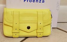 PROENZA SCHOULER PS1 Large Zip AROUND Wallet CLUTCH Leather in CITRON NEW NWT
