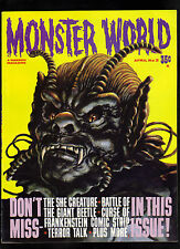 MONSTER WORLD #3 VG+   (THE SHE CREATURE / CURSE OF FRANKENSTEIN COMIC STRIP)