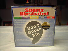 "Sports Illustrated Edition ""Don't Quote Me"" Board Game NEW SEALED"