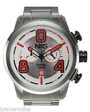 NXS SWISS CHRONOGRAPH PASTRANA COLLECTION SWITZERLAND DATE STAINLESS STEEL WATCH