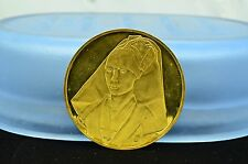 1976 FRANKLIN MINT 24K STERLING SILVER ROUND MEDAL PORTAIT OF A LADY