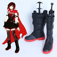 Exclusive made RWBY Ruby Crescent Rose Karneval Cosplay Shoes Boots Hand-made