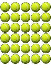 48x WIMBLEDON TENNIS BALL EDIBLE FAIRY CUP CAKE TOPPERS 3cm CupCake Decorations