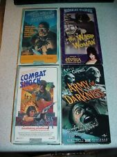 7 VHS VCR Horror Tapes Some OOP Terror Scary Movie video Lot Collection