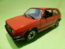 VW VOLKSWAGEN GOLF II GTI - RED 1:43 - NEAR MINT CONDITION