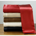 SET OF 2  NEW SOFT CHARMEUSE SILK~Y SATIN KING PILLOWCASES IVORY RED BLUE PINK