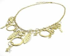 GREAT VALUE FASHION JEWELLERY STYLE GOLD EFFECT CHAIN WITH CHARMS