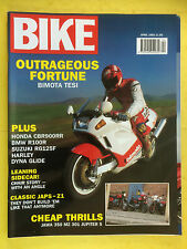 BIKE - April 1992 - Includes Second Hand Buyers Guide - Bimota Tesi 1D 906