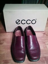 ECCO Berlin Bicycle Toe Slip On Shoes Rust Brown Leather  Sz 41 EU 7 - 7.5  US