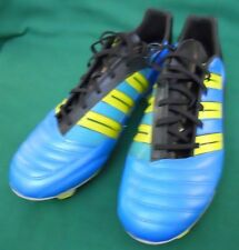 ADIDAS ABSOLION TRX FG MEN'S SOCCER SHOES SIZE US 11 1/2 AQUA AND YELLOW NEW