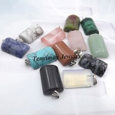 Semi-precious Stone Pendant For Necklace Real Natural Stone Arc Shape 24pcs/lot