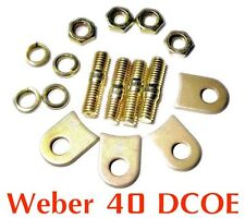 Installation kit pads tabs lock for Weber 40 DCOE for 2x velocity stack air horn