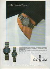 Publicité Advertising  1984  Montre CORUM