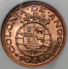 1948 NGC MS 66 RD ANGOLA 10 Centavos Portugal Colony Coin Top POP 2/0  16110313C
