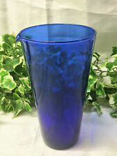 "Beautiful Bristol Blue / Cobalt Blue Vintage 7"" Lipped Beaker Art Glass Vase"