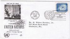 Nazioni Unite PRIMO GIORNO DI EMISSIONE 1958 AIEA sg60