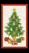 ALBERO di Natale tessuto Pannello FESTA DI NATALE ROSSO ORO muro appendere TAVOLA RUNNER
