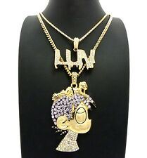 NEW ICED OUT LIL UZI VERT LUV 2 CHAIN SET.