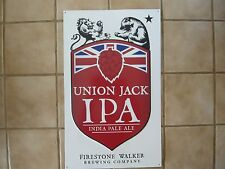 "FIRESTONE Union Jack IPA metal Bar sign,Man cave - Official 17"" W x24""T"