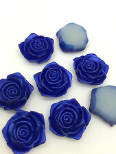 NEW Hot 16pcs Resin DIY Flower Flatback Scrapbooking For making crafts Blue#
