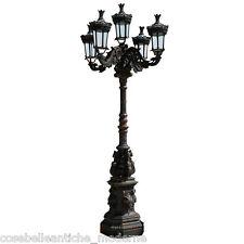 Lampione Giardino a 5 Lanterne in Ghisa Illuminazione Esterni Lampada Lamp 300cm