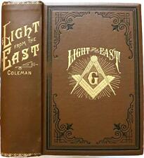 1913  LIGHT FROM THE EAST FREEMASONRY HOLY LAND KNIGHTS TEMPLAR PYRAMIDS MASONS