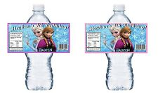 20 DISNEY FROZEN PERSONALIZED BIRTHDAY PARTY FAVORS WATER BOTTLE LABELS WRAPPERS