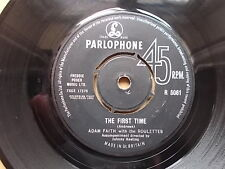 "Adam Faith/Roulettes ""The First Time"" b/w ""So Long Baby"".Parlophone R 5061.1963"