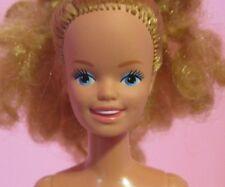 Vintage 1980s Skipper Barbie Sister Doll, Jewel Secrets Curly Hair Nude OOAK EUC