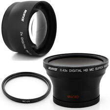 Albinar 58mm 0.43x Wide fisheye,2x Tele Lens,Filter for CANON REBEL 1000D T1 T3i
