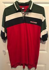 90S VTG TOMMY HILFIGER SAILING Flag GEAR POLO RUGBY SHIRT USA Size Large
