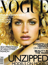 VOGUE UK October 1998 AMBER VALLETTA Gisele Bundchen KATE MOSS Naomi Campbell