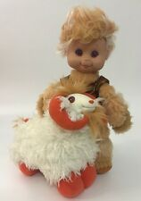 Vintage 1985 Wonder Whims Jadoo & Rambumptious Boy Doll And Sheep Ram Plush 9""