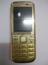 New Condition Nokia C5-00 Gold 5MP Bluetooth FM Radio 3G Unlocked Mobile Phone