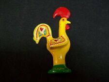 Vintage Hand Painted Portuguese Rooster Refrigerator Magnet Very Good Condition