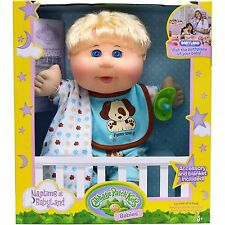 Cabbage Patch Kids Naptime Babies Doll, Blonde Hair Blue Eye Baby Boy NEW
